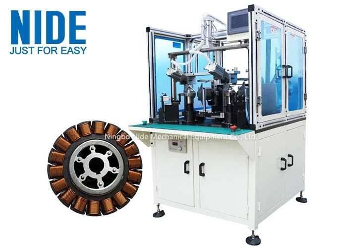 Electric Bike Wheel Motor Winding Machine , Automatic Coiling Machine High Efficiency